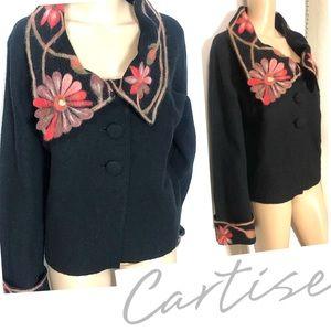 Cartise Wool Sweater Blazer